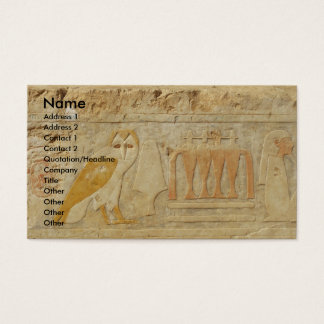 Cartão De Visitas A pirâmide de Djoser, EGIPTO, Hieroglyphics da