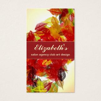 Cartão De Visitas A queda sae do jardim colorido do outono