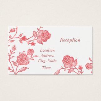Cartão De Visitas A recepção floral convida