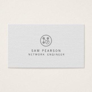 Cartão De Visitas A rede do engenheiro da rede aponta o computador
