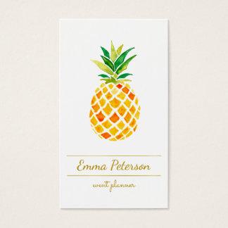 Cartão De Visitas abacaxi da aguarela