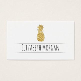 Cartão De Visitas abacaxi dourado
