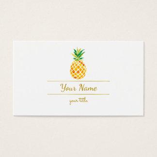 Cartão De Visitas abacaxi elegante da aguarela