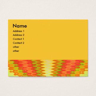 Cartão De Visitas abstrato amarelo alaranjado