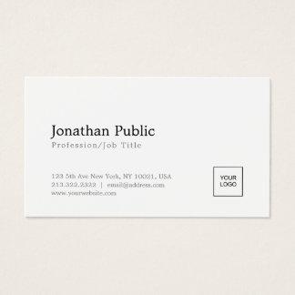 Cartão De Visitas Adicione seu design simples branco elegante