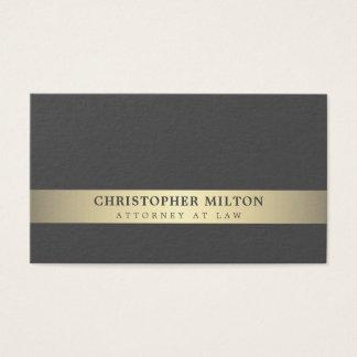 Cartão De Visitas Advogado cinzento elegante simples da listra do