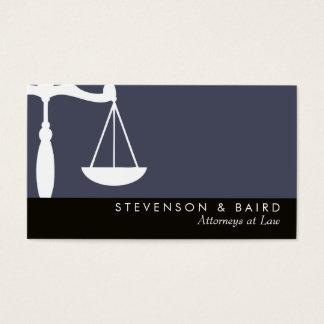 Cartão De Visitas Advogado da escala de justiça na lei