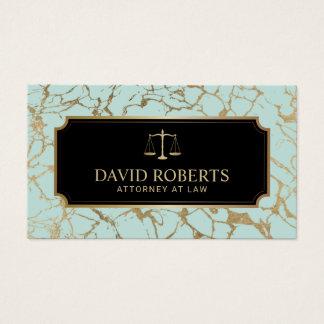 Cartão De Visitas Advogado do advogado na hortelã da lei & no