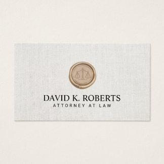 Cartão De Visitas Advogado do advogado no notário da lei elegante