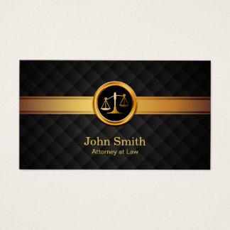 Cartão De Visitas Advogado do advogado no ouro luxuoso da lei