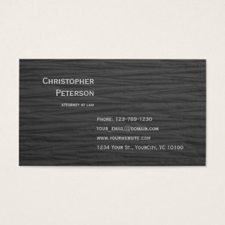 Cartão De Visitas Advogado elegante Textured minimalista no