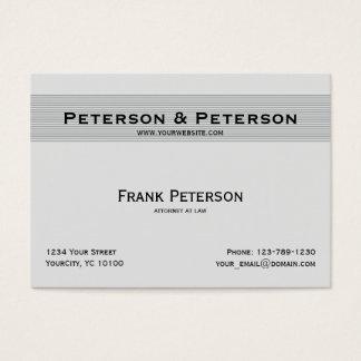 Cartão De Visitas Advogado listrado elegante Textured minimalista