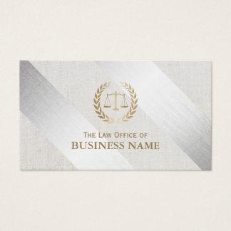 Cartão De Visitas Advogado na prata da lei & no advogado modernos do