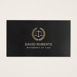 Cartão De Visitas Advogado no advogado de couro escuro da escala do