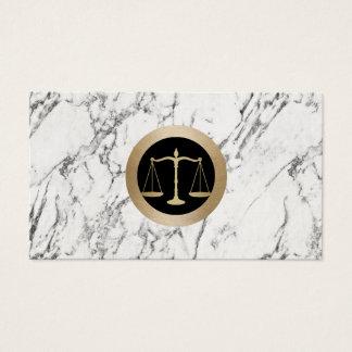 Cartão De Visitas Advogado no advogado de mármore branco da escala