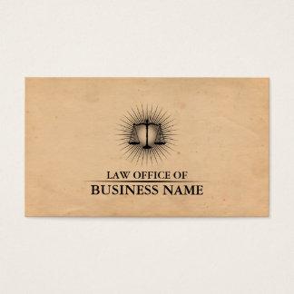 Cartão De Visitas Advogado no advogado elegante do papel do vintage