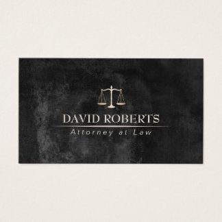 Cartão De Visitas Advogado no advogado elegante do quadro da lei