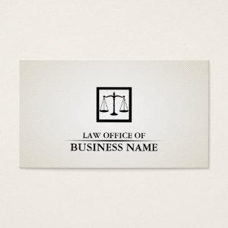 Cartão De Visitas Advogado no advogado liso preto & branco da lei