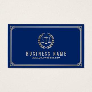 Cartão De Visitas Advogado no advogado quadro ouro dos azuis