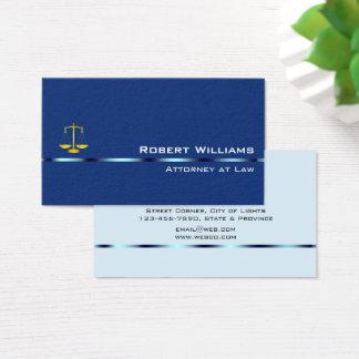 Cartão De Visitas Advogado no azul liso simples profissional da lei