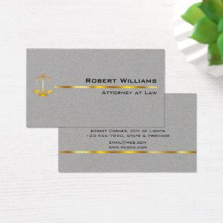 Cartão De Visitas Advogado no ouro simples profissional da lei legal