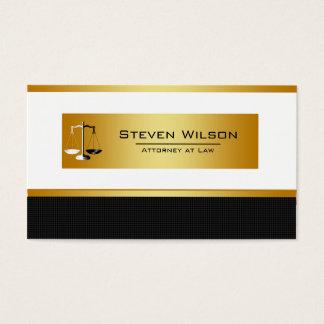 Cartão De Visitas Advogado no preto da lei e na escala legal do ouro