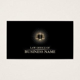 Cartão De Visitas Advogado no preto elegante da lei & advogado do
