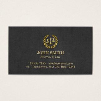 Cartão De Visitas Advogado profissional do preto & do ouro