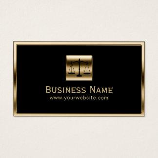 Cartão De Visitas Advogado quadro ouro do monograma do advogado na