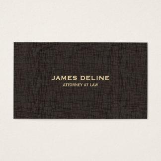 Cartão De Visitas Advogado simples elegante de Brown da textura