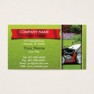 Cartão De Visitas Ajardinando o cuidado do gramado do cortador de