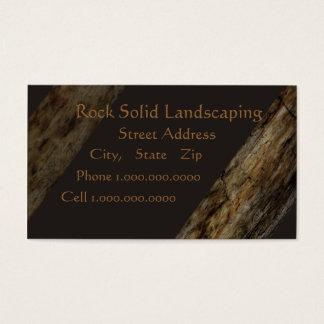 Cartão De Visitas Ajardinar rocha sólida