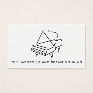 Cartão De Visitas Ajustamento das lições de piano, do piano e reparo