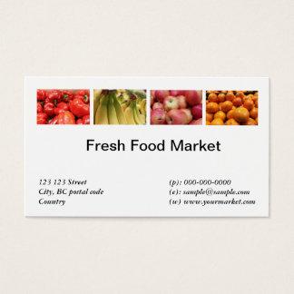 Cartão De Visitas Alimentos frescos, frutas, mercado vegetal