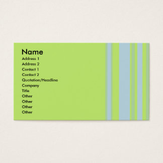 Cartão De Visitas amarelo cinzento verde listrado