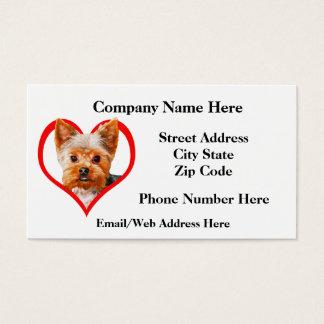 Cartão De Visitas Amostra 9 da preparação do animal de estimação