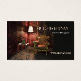 Cartão De Visitas Antiguidade do vintage da mobília do designer de