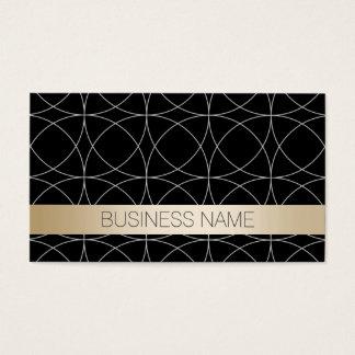 Cartão De Visitas Anunciador luxuoso do preto & do ouro