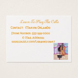 Cartão De Visitas Aprenda jogar o violoncelo