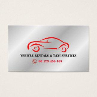 Cartão De Visitas Arrendamento do VEÍCULO & serviços do táxi