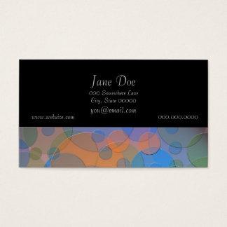 Cartão De Visitas Arte abstracta colorida do divertimento dos