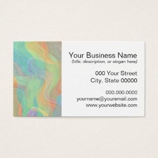 Cartão De Visitas Arte colorido da aguarela do abstrato do Pastel