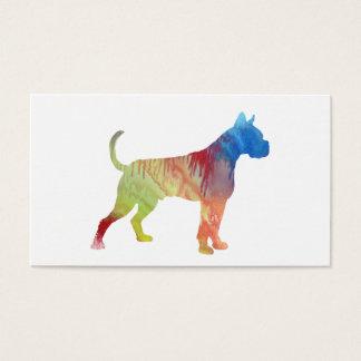 Cartão De Visitas Arte do cão do pugilista