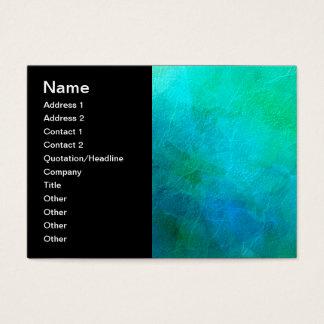 Cartão De Visitas Arte do fundo do abstrato de turquesa do verde