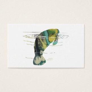 Cartão De Visitas Arte do peixe-boi