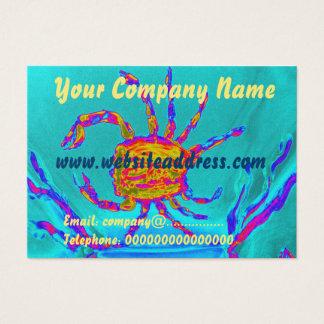 Cartão De Visitas Arte submarina do caranguejo legal