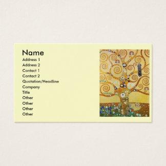 Cartão De Visitas Árvore de Klimt de vida