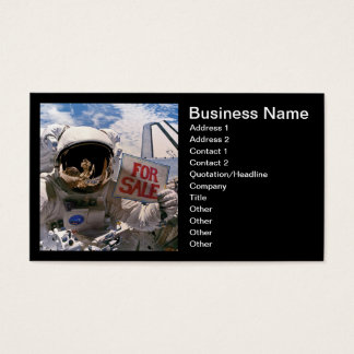 Cartão De Visitas Astronauta da NASA que guardara o sinal - adicione