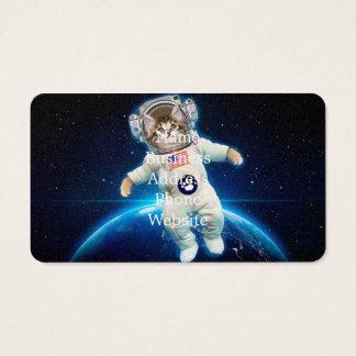 Cartão De Visitas Astronauta do gato - gato do espaço - amante do