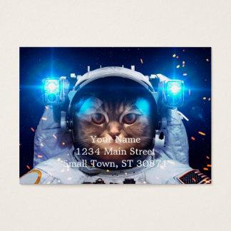 Cartão De Visitas Astronauta do gato - gatos no espaço - espaço do
